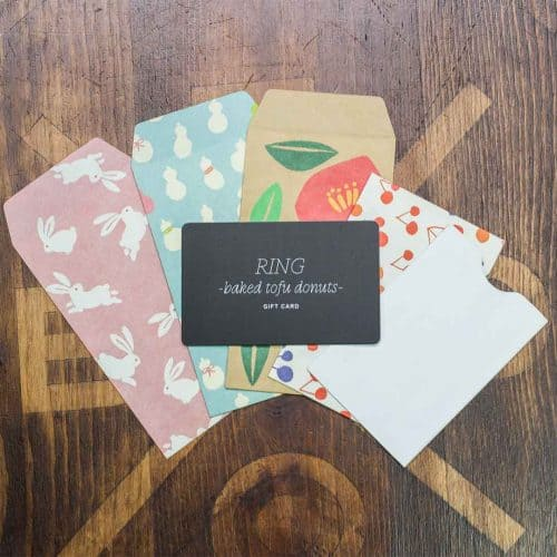 Ring gift card envelopes