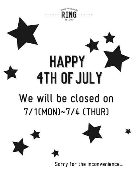 4th July Store Hours